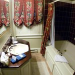 The bathroom with the Jaccizi soaker tub