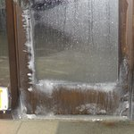                    Picture of the emergency door, in the pool area, right next to the kiddy pool.