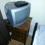 dusty tv and set of drawers???