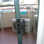                    Balcony door with inadequate latch