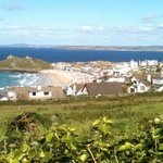                    View of Porthmeor Beach from the site
