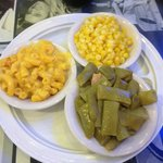 Buttered Corn, Mac & Cheese, Green Beans