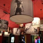                   Lamp shades inspired on movie scenes. Cafe Lux