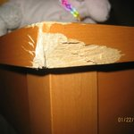  chewed up desk corner