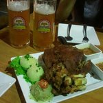 Legendary pork knuckle and cloudy beers