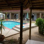 Kamanga Lodge, view from pool and rooms