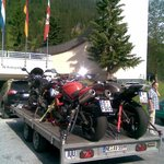 "Dry weather German ""bikers"",arriving by car,amazing!!"