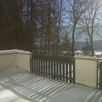                    terrazza innevata della camera