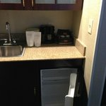 "Fridge and ""bar"" area.  Separate bar sink"