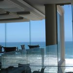  Sit close to the windows for the best view of the beach and sea