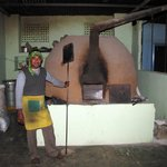 Huge Clay Oven to bake the delicious pizzas with a friendly cook!