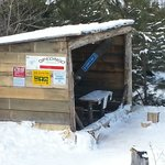                    warm up hut just off the 159  Trails were great.  Thanks to the Opeongo snowbi
