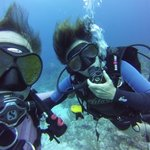 having fun diving