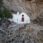 Little Church set in the mountain side in Perrisa beware it,s a very steep cli