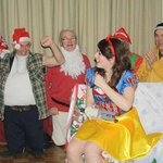                    Snow white &amp; 7 dwarfs gave xmas presents!
