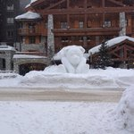  One of the Snow sculptures around the town