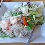 Glass noodle salad is delish!