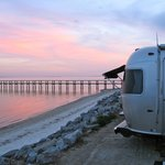                                      Sunset at Ho Hum RV Park, January 8, 2013.