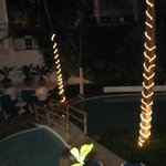 Los Arcos Suites Pool at night