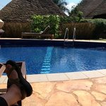 my feet by the pool!