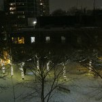                    View from the Camilla Room of opposite park at night
