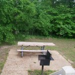 Spratley House backyard picnic table and grill