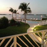                    View from Balcony at Bay, Pool, Hammock, Tiki Torches