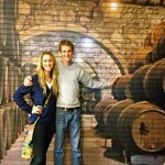Heath and I at the winery- looks real doesn't it??