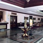  The hotel lobby