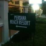                    Perdana Beach Resort Signage