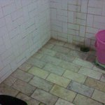FLOOR OF THE BATHROOM IN THE ROOM