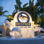 Entrance Sign to Guy's Gulfside Grill at Guy Harvey Outpost