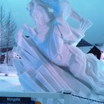                                      Snow Sculptures - be sure to see them!