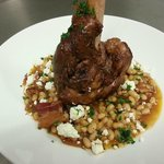  Braised Lamb Shank over White Bean Ragout