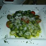                   Gnocchi with pesto sauce.  Excellent