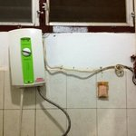 exposed electrical wires in the shower spell danger