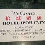  Ipoh City Hotel Contact