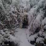 Heavy snow ,october2012..Blackheath,the highest town in worl