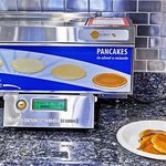 Enjoy hot breakfast, including fresh pancakes, each morning