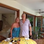                    Leona and Bob, our wonderful hosts at Frangipani B&amp;B