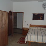 Private room with double bed.
