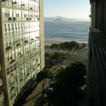                    View from the room towards the beach of Copacabana