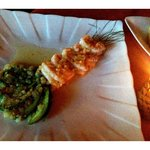                    shrimp and avocado starter