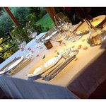 the lovely table setting