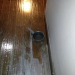 The ceiling leaking flooding our room and nothing was done a