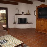 2 bedroom casita living room  with fireplace