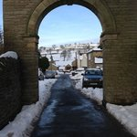 teesdale village in the snow