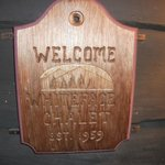                                      Welcome sign by the front door