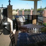 BBQ pit available for Candlewood Abilene guests in the Gazebo.