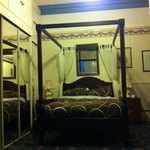                    The four poster bed was nice enough, comfortable.